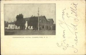 Casselton ND Commercial Hotel c1905 Postcard jrf