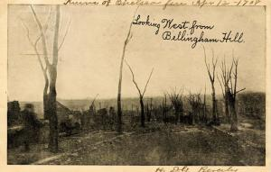 MA - Chelsea. Great Chelsea Fire- April 12, 1908. Looking West from Bellingha...