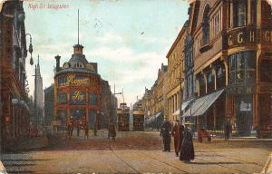 Leicester The Clock Tower Street Tram Postcard
