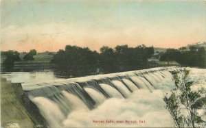 California C-1910 Merced Falls Postcard Cody Rieder hand colored 7621