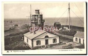 Old Postcard The Pointe Du Raz The semaphore and Raz