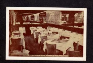 NY Interior View Town and Country Restaurant Park Ave New York City Postcard PC