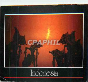 Postcard Modern Indonesia Wayang Kulit The Fabled a Shadowy World Where Good ...
