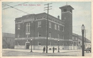 F73/ Auburn Indiana Postcard c1910 City Hall Building