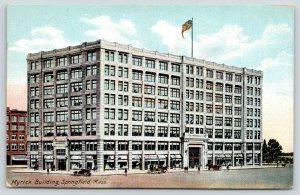 Springfield MA~Myrick Building~Symonds~N Church~Worthington~Columbus~Razed~1910