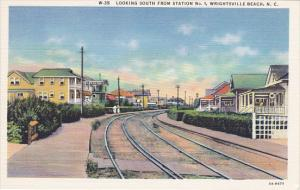 Looking South From Railroad Station No 1 Wrightsville Beach North Carolina Cu...