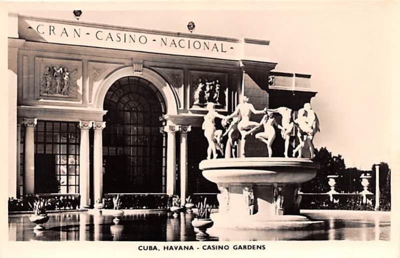 Casino Gardens Havana Cuba, Republica de Cuba Unused