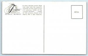 3 Postcards SAN FRANCISCO, CA ~ FAIRMONT HOTEL Crown Room & Lobby c1950s-60s