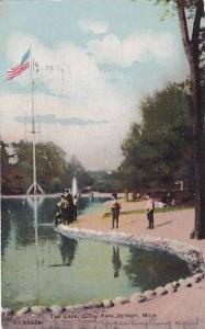 Michigan Detroit The Lake Clark Park 1908