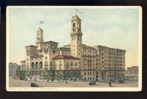 Richmond, Virginia/VA Postcard, Jefferson Hotel, Old Cars, horse & Wagons