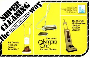Rhode Island East Providence Advertising Electrolux Olympia One Vacuum Cleaner