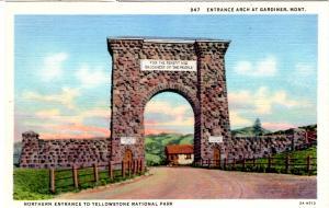 SANBORN 947, Entrance Arch at Gardiner, Mont., Yellowstone National Park