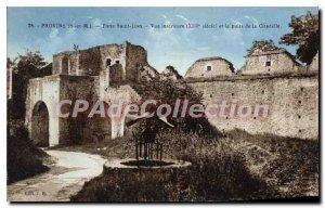 Old Postcard Provins Porte St Jean Inner View