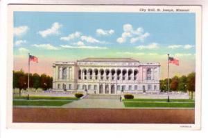 City Hall, US Flags, St Joseph Missouri,
