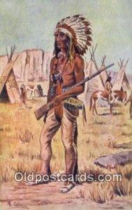 Indio Dakota Indian Unused tear left edge