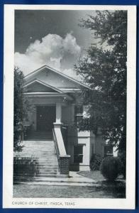 ItascaTexas tx Church of Chris postcard