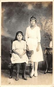 Philippines Girls Real Photo Vintage Postcard JE229713