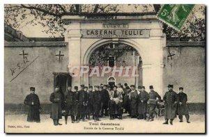 Toul Old Postcard Entrance to the barracks Teulie