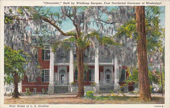 Mississippi Natchez Gloucester Built By Winthrop Sargent First Territorial Go...