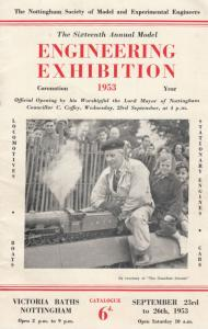Nottingham 1953 Engineering Exhibitionincl Model Railwaty Antique Old Show Guide