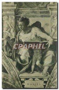 Old Postcard Citta del Vaticano Cappelle Sistina Michelangelo The Prophet Daniel