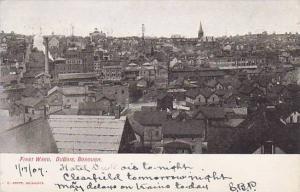 Birds eye view of First Ward, DuBois, Borough, DuBois,Pennsylvania,  PU-1907