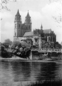 Magdeburg River Cathedral Dom Cattedrale