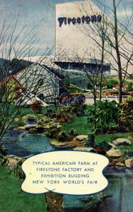 NY - 1939 New York World's Fair. Firestone Tire & Rubber Co. Building, Typica...