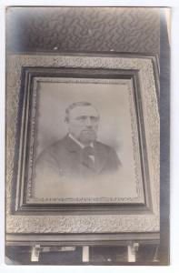 Vintage RPPC Framed Portrait of Man on Easel