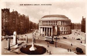 Manchester, New Reference Library Street Vintage Cars Auto Valentine's Series