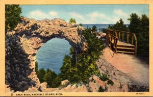 Michigan Mackinac Island Arch Rock Curteich