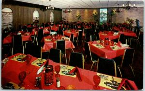 Spring Valley, Illinois Postcard VERRUCHI'S VENETIAN ROOM Restaurant c1960s