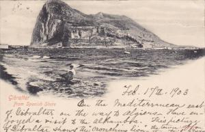 GIBRALTAR, PU-1903; From Spanish Shore