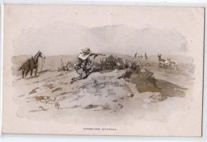 Antelope Hunting by C M Russell