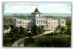Vintage 1909 Postcard Panoramic View of the Library of Congress Washington DC