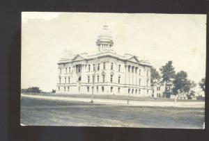 RPPC DOW CITY IOWA SCHOOL BUILDING OR COURT HOUSE REAL PHOTO POSTCARD 1913