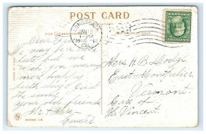 1912 Good Luck Swastika Greetings Postcard Embossed Long Beach CA Cancel