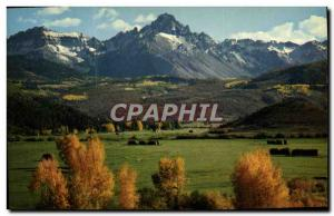 Modern Postcard Colorado Towering Giant of the Rockies Truly a mountain of ru...