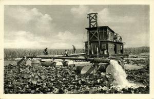 albania, TËRBUFIT, Bonifikimi Draga, Reclamation of Wetlands (1950s) Postcard
