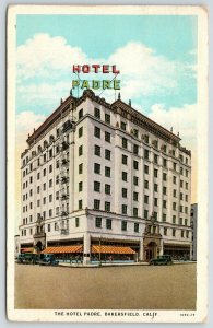 Bakersfield CA~Hotel Padre~18th & H Streets~Fire Escapes~Rooftop Access~1929
