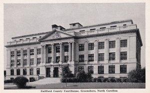 GREENSBORO, North Carolina, 1930-1950s; Guilford County Courthouse