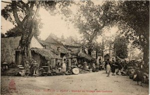 CPA AK Tonkin- Hanoi- Marché au Village des Cochons. VIETNAM Indochina (715373)