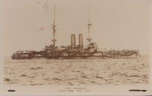 HMS Vengeance Vintage Early Rare Ship Postcard