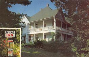 Eureka Springs Arkansas Marthas Inn Street View Vintage Postcard K90898