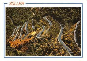 Spain Mallorca Baleares, Soller Caretera del Coll Road Airview