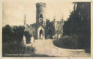 Franzensbad Czech Republic Salingburg castle photo postcard