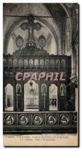 Paris Postcard Ancient Church St. Julien the Pauper The choir with & # 39icon...