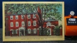 STD Vintage Longfellow's Home Portland Maine Unposted Linen