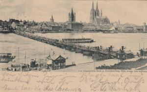 KOLN , Germany , PU-1900 ; Floating Bridge
