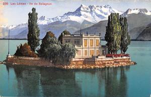 Switzerland Old Vintage Antique Post Card Lac Leman Unused